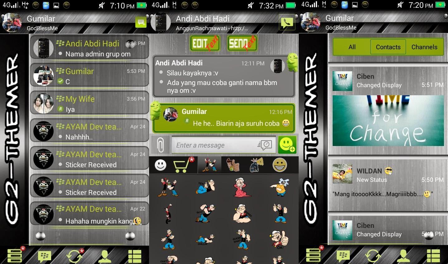 Download BBM Mod Terbaru Mei 2015 Syamlan Game Android